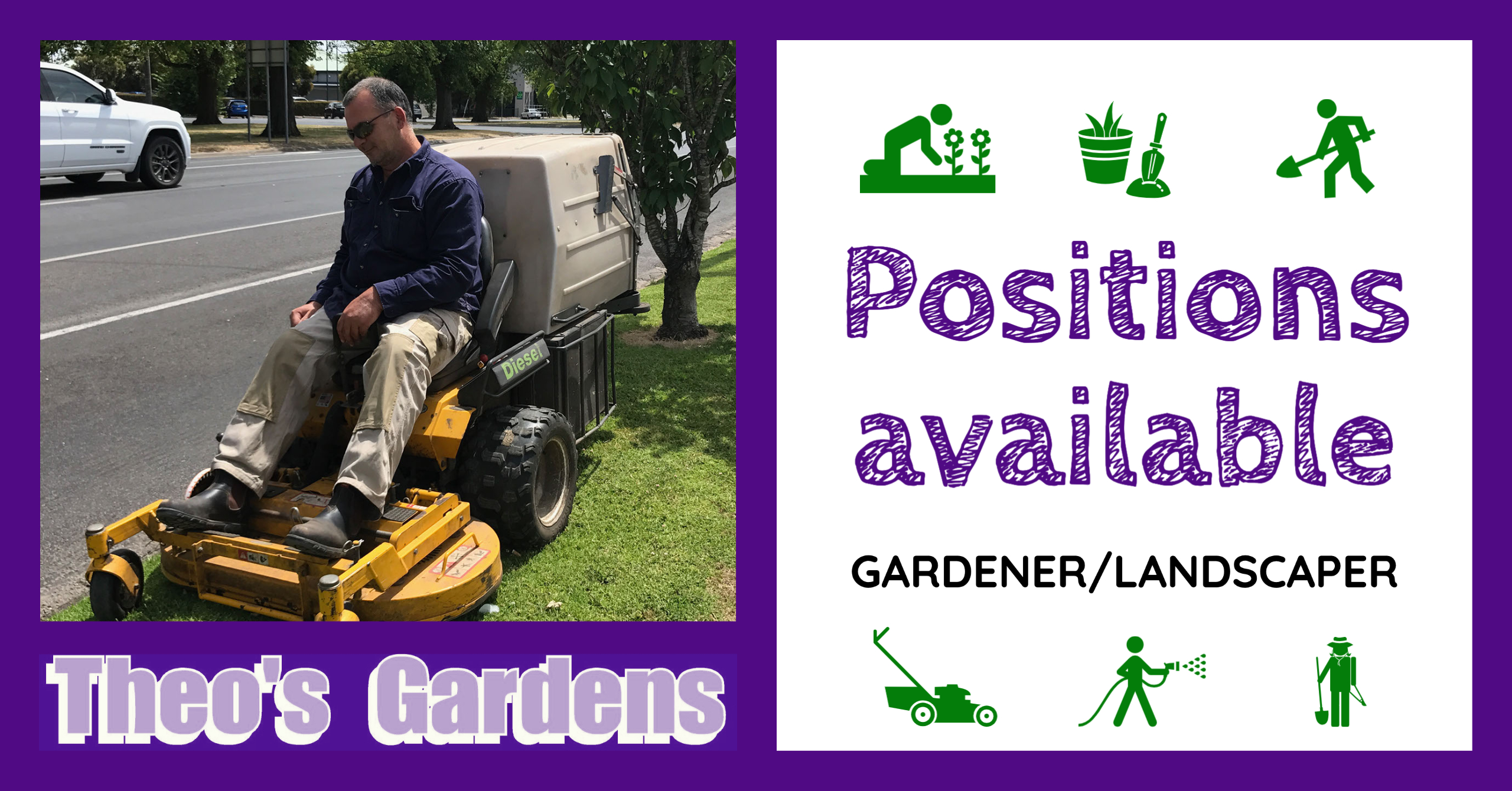 Theo's Gardens Positions Available